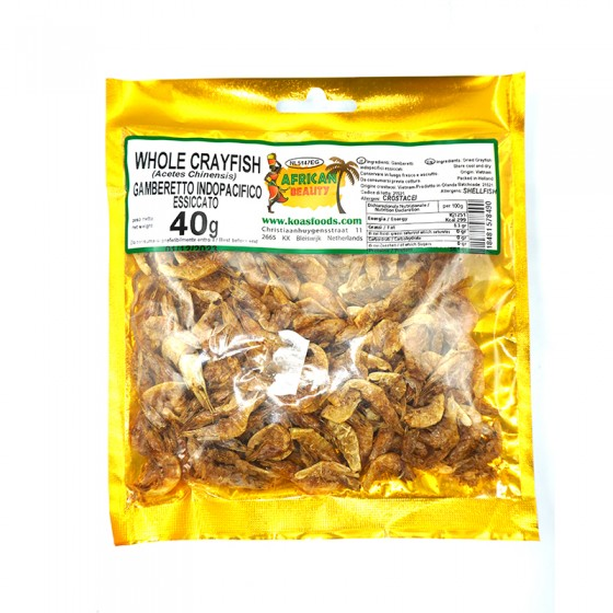 African Whole Crayfish 40gm