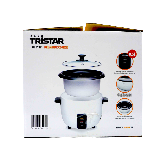 Tristar drum rice cooker 0.6l