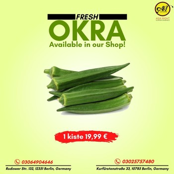 Frische Okra ist nur in unserem Shop erhältlich! 1 Kiste 19,99 €.  Rufen Sie für eine Bestellung an 📞03064904646 📍Rudowerstr. 132, 12351 Berlin, Deutschland  03025757480 📍Kurfürstenstraße 33, 10785 Berlin, Deutschland Besuchen Sie uns, wann immer Sie möchten!  #grocerysgopping #grocery #groceries #getgrocery #africanchili #spicy #bestprice #healthy #food #groceriesingermany #germanyfood #Deutschland #vegan #afrofood #africaningermany #indianingermany #asianshop #asingrocery #africangrocery #vegetables #okra #freshvegetables