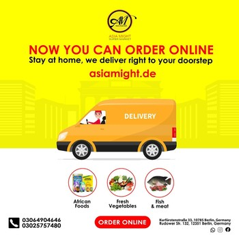 We offer you one of the largest selections of original Indian, Afro and Latin foods with 100% quality.  Let us be your shopping cart. Your fast and friendly grocery delivery service in your town.  We offer: -Indian groceries (all kinds of food & vegetables) -Srilankan (all kinds of foods & vegetables) -African foods (all kinds of foods) -Frozen foods -Fresh vegetables  -Fresh fish & meats  If you have any question? Give us a call in +493064904646. We are open Mon-Sat 09:00AM - 08:00PM. We are located at 1.Rudower Straße 132, 12351 Berlin 2.Kurfürstenstraße 33, 10785 Berlin  3.Zossener Str. 13, 10961 Berlin, Germany.   #grocerysgopping #grocery #groceries #getgrocery #africanchili #spicy #bestprice #healthy #groceriesingermany #germanyfood #Deutschland #healthy #vegan #afrofood #africaningermany #indianingermany #asianshop #asingrocery #africangrocery #berlinfood #africansinberlin #indiangrocery #deliveryservice #deliveryinberlin #groceriesdelivery #internationale #lebensmittel #internationalelebensmittel #shoppinginberlin #organic