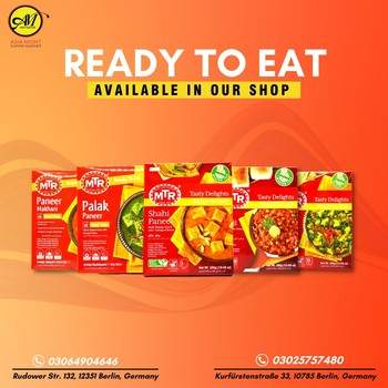 Ready to eat foods are available in our shop!  Visit our store! Just heat & eat! Call for Order 📞03064904646  📍Rudower Str. 132, 12351 Berlin, Germany 📞03025757480 📍Kurfürstenstraße 33, 10785 Berlin, Germany Visit us whenever you prefer!  #grocerysgopping #grocery #groceries #getgrocery #africanchili #spicy #bestprice #healthy #food #groceriesingermany #germanyfood #Deutschland #healthy #vegan #afrofood #africaningermany #indianingermany #asianshop #asingrocery #africangrocery #berlinfood #mtr #readytoeat