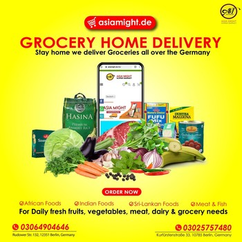 Looking for International Grocery Shop in Germany🇩🇪? Can't find it anywhere? We're here! We offer you one of the largest selections of original Asian, Indian, African, Sri-Lankan, Latin foods with 100% quality. Get your favorite groceries in the best price. We are just Online now visit our website https://asiamight.de/en/  Stay home & Order Online we bring your all groceries to your Home. We deliver all over the Germany.  ✅African Foods ✅Indian Food ✅Sri-Lankan Foods ✅Meat & Fish ✅Fresh vegetables & fruits 🙌🥳  #grocerysgopping #grocery #groceries #meat  #africanfood #spicy #bestprice #fish #groceriesingermany #germanyfood #Deutschland #healthy #afrofood #africaningermany #indianingermany #asianshop #asingrocery #africangrocery #berlinfood #onlineshop  #grocerystore #asiamight #asiangfood #srilankanfood #shrilankan  #ordernow  #internationalsupermarket #retailstore