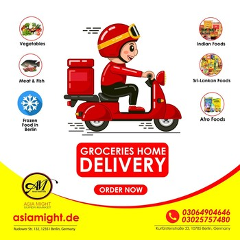 Now we are Online. Clink the link for Order 👉https://asiamight.de/en/ Stay home & Order Online we bring your all groceries to your Home. We deliver all over the Germany.  ✅African Foods ✅Indian Food ✅Sri-Lankan Foods ✅Meat & Fish ✅Fresh vegetables & fruits ✅Frozen Food only in Berlin 🙌🥳  #grocerysgopping #frozenfood #fish #getgrocery #vegetables #groceriesingermany #germanyfood #afrofood #healthy #vegan #afrofood #africaningermany #indianingermany #asianshop #asingrocery #africangrocery #berlinfood #africansinberlin #indiangrocery #deliveryservice #deliveryinberlin #groceriesdelivery #internationale #lebensmittel #internationalelebensmittel