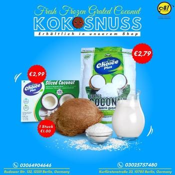 Benachrichtigung über neue Produkte!!  Kokosnüsse, gefrorene Kokosraspeln und Kokosraspeln sind in unserem Shop erhältlich.  Besuchen Sie uns oder bestellen Sie jetzt. Wir liefern bis vor Ihre Haustür!  📞03064904646 📍 Rudowrstr. 132 Berlin, Deutschland 📞03025757480 📍 Kurfürstenstraße ßee 33, 10785 Berlin, Deutschland - Besuchen Sie uns, wann immer Sie wollen  #grocerysgopping #grocery #groceries #getgrocery #africanchili #spicy #bestprice #food #groceriesingermany #germanyfood #Deutschland #healthy #afrofood #africaningermany #indianingermany #asianshop #asingrocery #africangrocery #berlinfood #tofu #FreshTofu #vegan #grocerystore